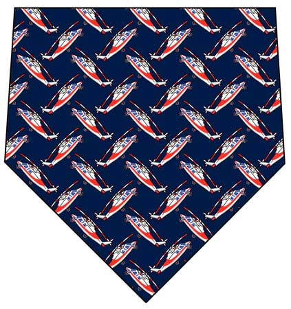 Agusta Helicopter Necktie, 4 Colors,  Item Number NT9001