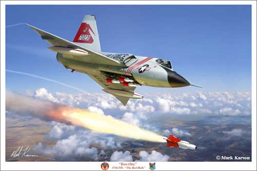 "F-106 Delta Dart ""Toro One"" (Fine Art Print), Mark Karvon Aviation Art Item Number MKNF106b"