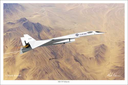 XB-70 Valkyrie (Fine Art Print), Mark Karvon Aviation Art Item Number MKNXB703