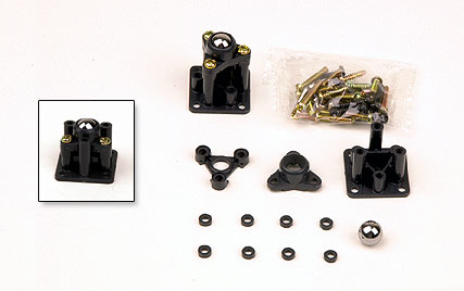 Ball Caster 2Pcs, Tamiya Plastics Item Number TAM70144