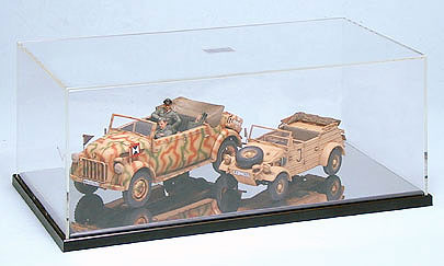 Display Case C w/Mirror Sheet, Tamiya Plastics Item Number TAM73008