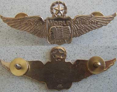 TWA 1950s Pilot Wings Sterling Gold Plated Trans World Airlines, TWA, TWA  Pilot,