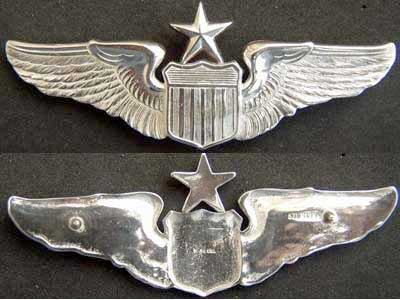 US Air Force Senior Pilot Wings Sterling Silver, Weingarten Gallery Item Number P-1680S