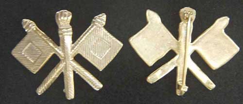 Spanish American War Signal Corp Collars Brass, Weingarten Gallery Item Number P-2113B