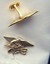 US Navy Seals Insignia Sterling Cuff Links, Weingarten Gallery Item Number P-2146CF