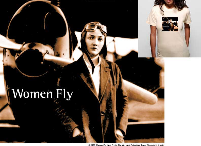 Nancy Harkness Love/Propeller T-shirt, Women Fly Item Number TS-WFHARKNESSPROP