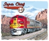 Santa Fe Railroad Super Chief Rail T-shirt  - Design by Aviation Artist Mark Karvon, Born Aviation Aviation Gifts Item Number TSK-SC