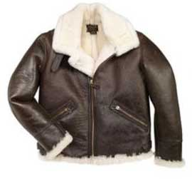 B-9 American Shearling Jacket Size 50 - Clearance Item, Cockpit/Avirex Leather Jackets Item Number Z2105-50