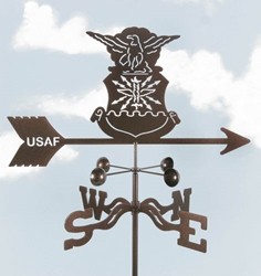 Air Force - Original Logo Weathervane, EZ Vane Weather Vanes Item Number EZVAirForce