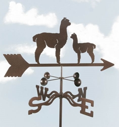 Alpaca and Baby Weathervane, EZ Vane Weather Vanes Item Number EZVAlpaca