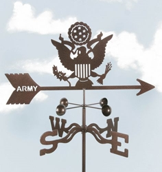 Army - Original Logo Weathervane, EZ Vane Weather Vanes Item Number EZVArmy