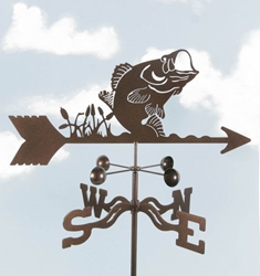Bass Fish Weathervane, EZ Vane Weather Vanes Item Number EZVBass