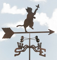 Cat & Butterfly Weathervane, EZ Vane Weather Vanes Item Number EZVCat