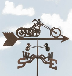 Chopper Motorcycle Weathervane, EZ Vane Weather Vanes Item Number EZVChopper