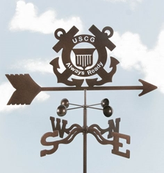 Coast Guard Logo Weathervane, EZ Vane Weather Vanes Item Number EZVCoastGuard