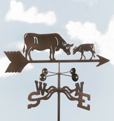 Cow & Calf Weathervane, EZ Vane Weather Vanes Item Number EZVCow