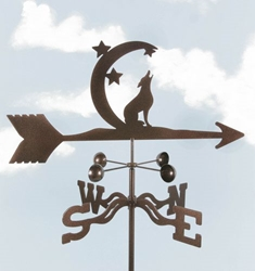 Coyote with Moon Weathervane
