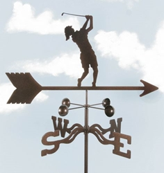 Female Golfer Weathervane, EZ Vane Weather Vanes Item Number EZVGolferF