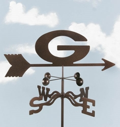 "Georgia ""G"" Bulldogs Logo Weathervane, EZ Vane Weather Vanes Item Number EZVGreenBay"