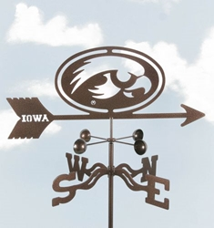 Iowa Hawkeyes Logo Weathervane, EZ Vane Weather Vanes Item Number EZVHawkeyes