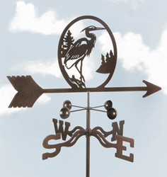 Heron Bird Weathervane, EZ Vane Weather Vanes Item Number EZVHeron