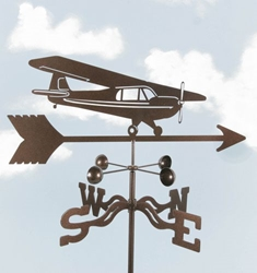 High Wing Airplane Weathervane, EZ Vane Weather Vanes Item Number EZVHiWing