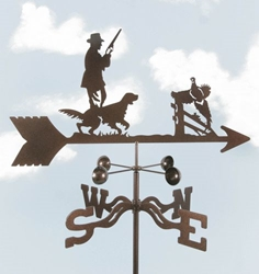 Hunter w/ Dog Weathervane, EZ Vane Weather Vanes Item Number EZVHunter