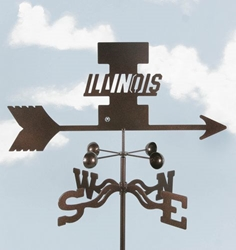 Illinois Fighting Illini Logo Weathervane, EZ Vane Weather Vanes Item Number EZVIllinois