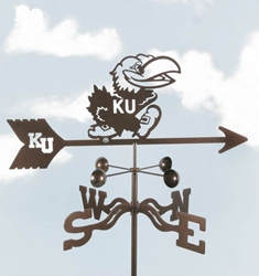 Kansas Jayhawks Logo Weathervane, EZ Vane Weather Vanes Item Number EZVJayhawk