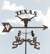 Texas Longhorns Logo Weathervane, EZ Vane Weather Vanes Item Number EZVLonghorns
