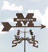 Michigan Wolverines Logo Weathervane, EZ Vane Weather Vanes Item Number EZVMichigan