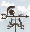 Michigan State Spartans Logo Weathervane, EZ Vane Weather Vanes Item Number EZVMichiganS