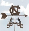 North Carolina Tar Heels Logo Weathervane, EZ Vane Weather Vanes Item Number EZVNorthCarolina