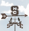 North Carolina State Wolfpack Logo Weathervane, EZ Vane Weather Vanes Item Number EZVNorthCarolinaS