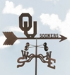 Oklahoma Sooners Logo Weathervane, EZ Vane Weather Vanes Item Number EZVOklahoma
