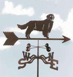 Golden Retreiver Dog Weathervane, EZ Vane Weather Vanes Item Number EZVRetriever