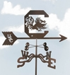 South Carolina Gamecocks Logo Weathervane, EZ Vane Weather Vanes Item Number EZVSouthCarolina