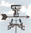 Texas Tech Red Raiders Logo Weathervane, EZ Vane Weather Vanes Item Number EZVTech