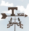 Tennessee Volunteers Logo Weathervane, EZ Vane Weather Vanes Item Number EZVTennessee