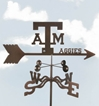 Texas A&M Aggies Logo Weathervane, EZ Vane Weather Vanes Item Number EZVTexasAM