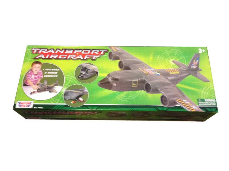 "18"" long Military Transport Airplane Play Set, Motormax Diecast Item Number FM-C130"