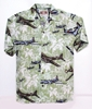 Palm Tree Hawaiian Aloha Shirt, Green, Pilotwear Item Number HS-PTG