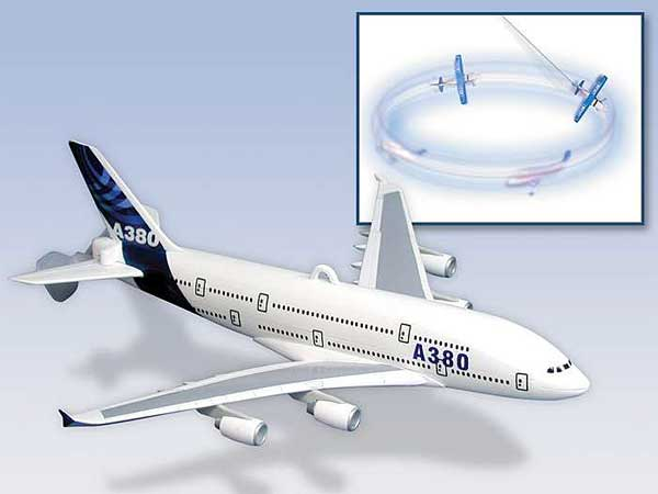 A380 Flying Toy On A String, Daron Toys Item Number DYT1067