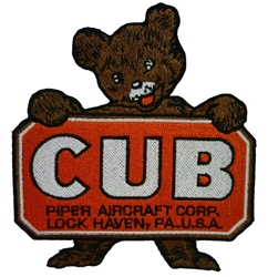Piper Cub Patch, Pilotwear Item Number PATCH-3155