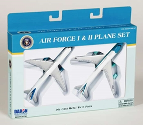 "Air Force One/Air Force 2 - 2 Plane Set (5""), Realtoy Diecast Toys Item Number RT5733"