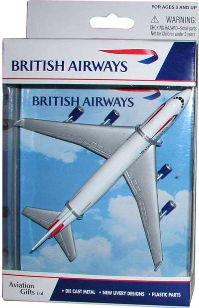 "British Airways Airliner (5""), Realtoy Diecast Toys Item Number RT6004"
