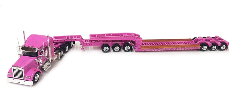 Trucking Show Tractor Cab and Dual 28/' Pup Trailers 1:53 Scale Tonkin Intl