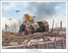 "Renault FT-17 - ""Five Of Hearts"" by Mark Karvon Aviation Art Item Number: MKNFT17"