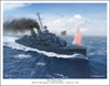 "USS Johnston DD 557 - ""The Finest Hour"" by Mark Karvon Aviation Art Item Number: MKNUSSJDD557"