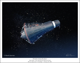 "Mercury ""Friendship 7"" - ""Travellers Among The Stars"" by Mark Karvon Aviation Art Item Number: MKNMF7"